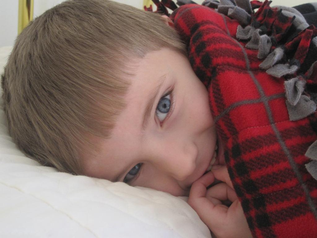 Regan with blanket