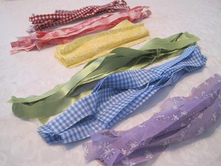 rainbow cloth strips