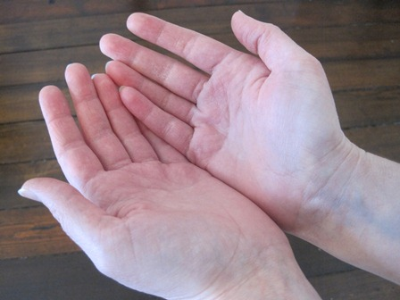 open my hands