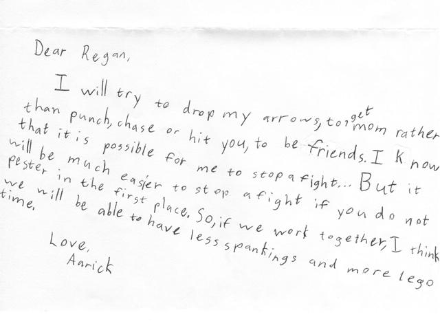 aarick's note
