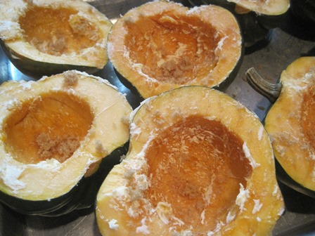 acorn squash seasoned