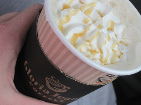 caramel white chocolate mocha