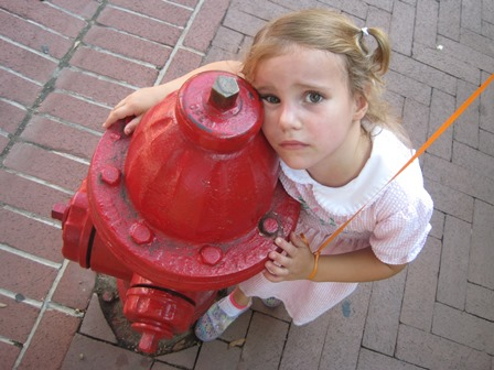 kelly with hydrant