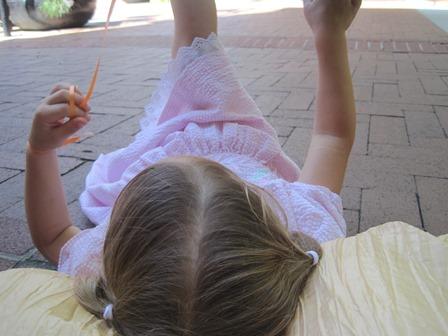 lying in the street