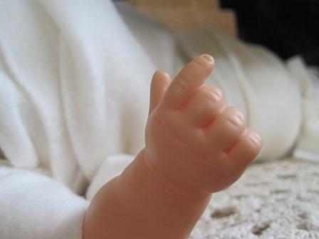 Baby Jesus' hand