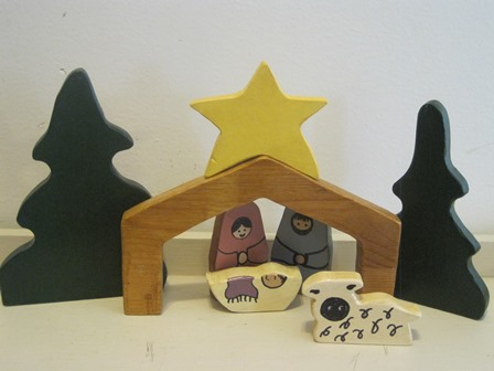 wooden Nativity